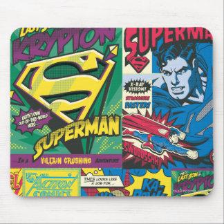 Los paneles cómicos del superhombre alfombrilla de ratones
