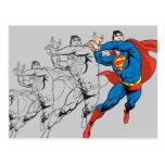 Los paneles cómicos del superhombre tarjeta postal