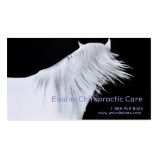 Los paneles de la cabeza de caballo blanco tres tarjetas de visita