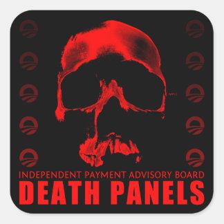 Los paneles de la muerte pegatina cuadradas personalizada