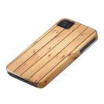 Los paneles de madera de la sauna iPhone 4 Case-Mate coberturas