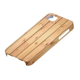 Los paneles de madera de la sauna iPhone 5 funda