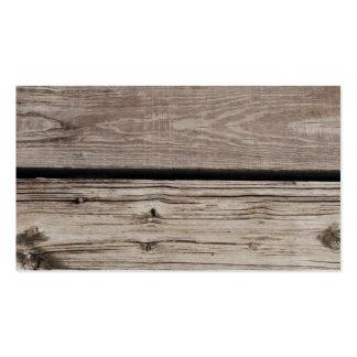 Los paneles de madera tarjetas de visita