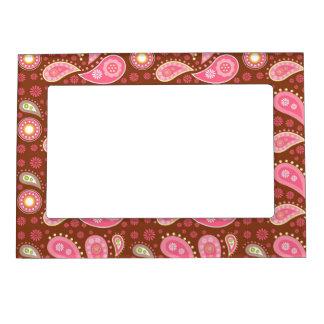 Los paneles de Paisley rosada Marcos Magnéticos Para Fotos
