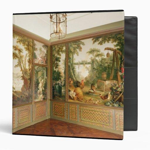 Los paneles de pared pintados en el salón de Gille