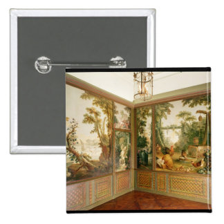 Los paneles de pared pintados en el salón de Gille Pin Cuadrado