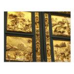 Los paneles dorados Florencia Tarjeta Postal