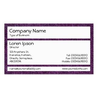 Los paneles - dril de algodón púrpura tarjetas de visita