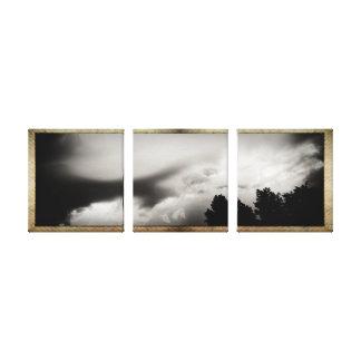 Los paneles enmarcados del cielo impresión de lienzo