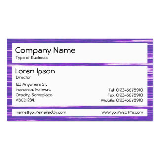 Los paneles - lago púrpura tarjeta personal