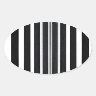 Los paneles ligeros de BNW B&W BlackNwhite Pegatina Ovalada