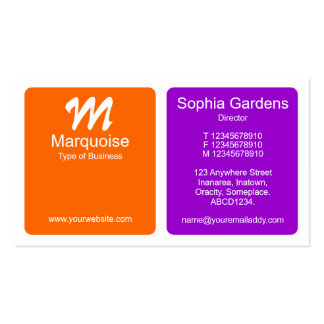 Los paneles - naranja y púrpura tarjeta de negocio