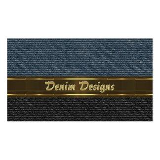 Los paneles negros y azules del dril de algodón tarjetas de visita