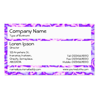 Los paneles - plasma púrpura tarjeta de visita