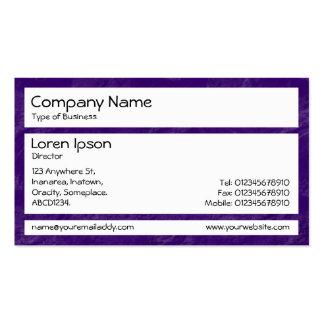 Los paneles - púrpura cepillada tarjeta de visita