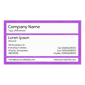 Los paneles - púrpura de papel arrugada plantillas de tarjeta de negocio
