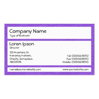 Los paneles - púrpura de papel arrugada plantillas de tarjetas de visita