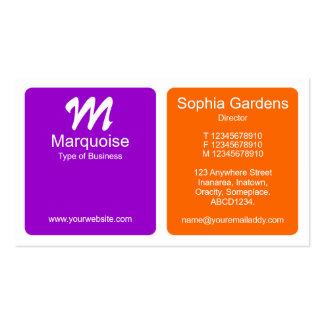 Los paneles - púrpura y naranja tarjetas de visita