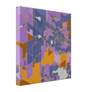 Los paneles púrpuras impresiones en lona estiradas