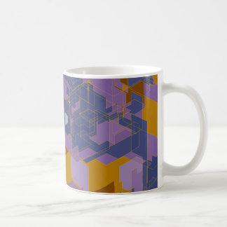 Los paneles púrpuras tazas