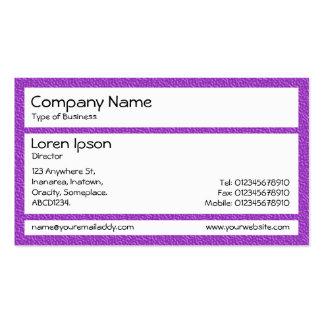 Los paneles - silla plástica púrpura plantillas de tarjetas de visita
