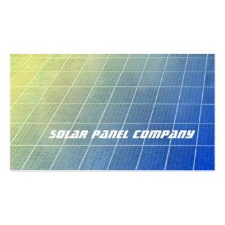 Los paneles solares azules y shading amarillo tarjetas de visita