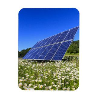 Los paneles solares con paisaje rural imán de vinilo