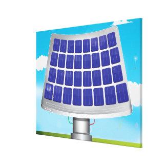 Los paneles solares impresion de lienzo