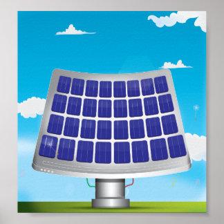 Los paneles solares póster