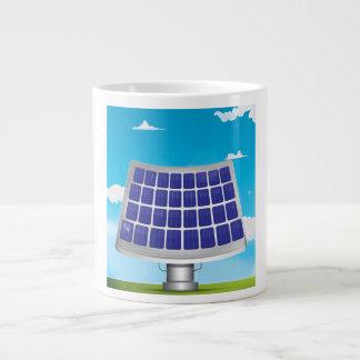 Los paneles solares taza grande