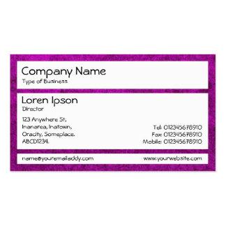 Los paneles - tierra púrpura tarjeta personal
