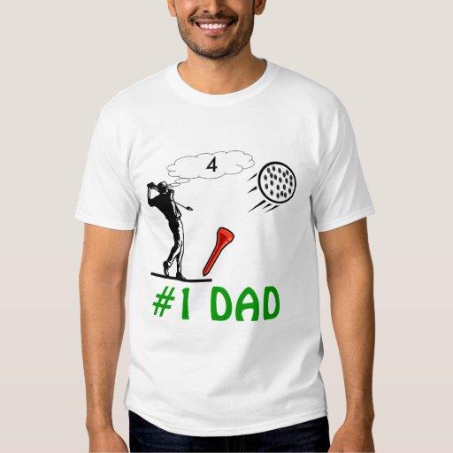 los papás #1 sirven la camiseta del golf remera