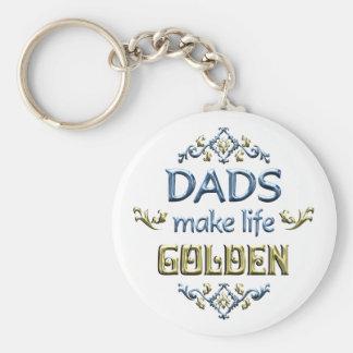 Los papás hacen vida de oro llavero redondo tipo pin