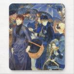Los paraguas de Pedro Renoir Alfombrilla De Ratón