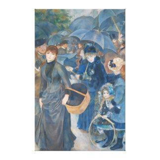 Los paraguas de Pierre-Auguste Renoir (1881-86) Lona Estirada Galerías