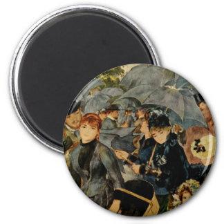 Los paraguas de Pierre-Auguste Renoir (1883) Imán Para Frigorífico