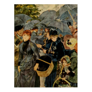Los paraguas de Pierre-Auguste Renoir (1883) Postales