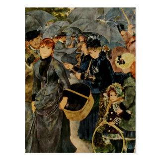 Los paraguas de Pierre-Auguste Renoir (1883) Tarjeta Postal