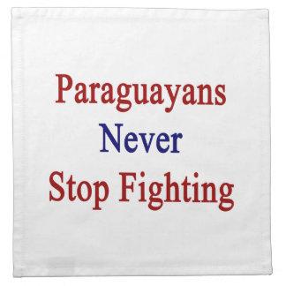 Los Paraguayans nunca paran el luchar Servilletas