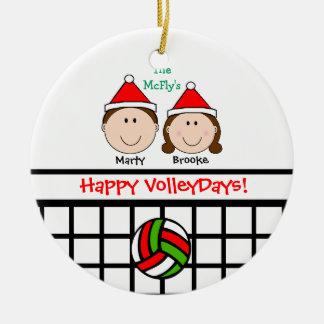 Los pares 1ros del voleibol personalizan el orname adornos