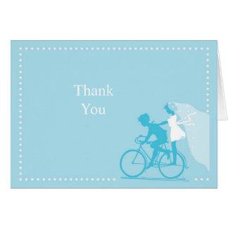 Los pares azules de la bicicleta le agradecen obse felicitacion