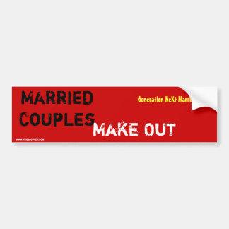 Los pares casados, hacen - pegatina para auto