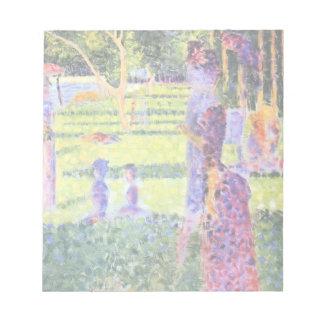 Los pares de Jorte Seurat, Pointillism del vintage Bloc De Notas