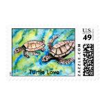 los pares de tortuga de las tortugas de mar aman sellos