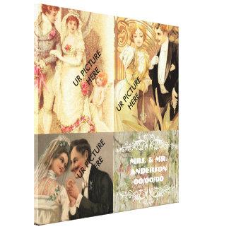 Los pares del boda, hacen sus los propios impresión en lienzo