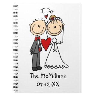 Los pares del boda hago las camisetas y los regalo cuadernos