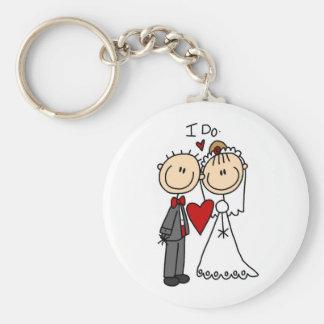 Los pares del boda hago las camisetas y los regalo llavero redondo tipo pin