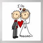 Los pares del boda hago las camisetas y los regalo posters