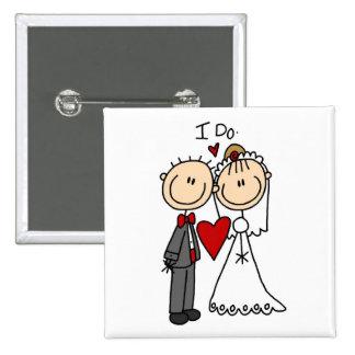 Los pares del boda hago las camisetas y los regalo pins
