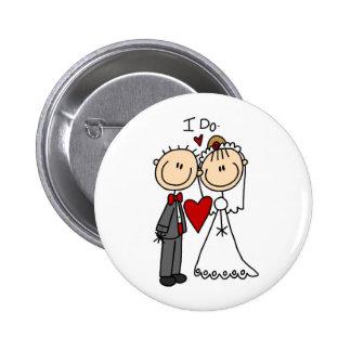 Los pares del boda hago las camisetas y los regalo pin
